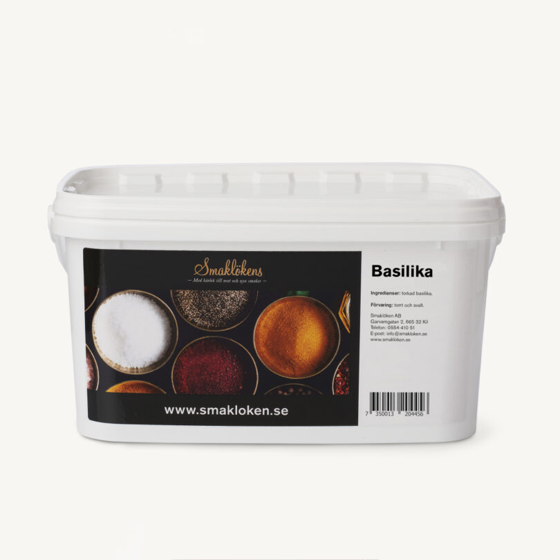 smaklökens-kryddor-basilika-torkad-5liter-hink-storpack-företag
