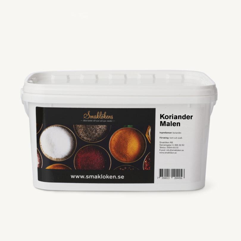 smaklökens-kryddor-korriander-malen-5liter-hink-storpack-företag