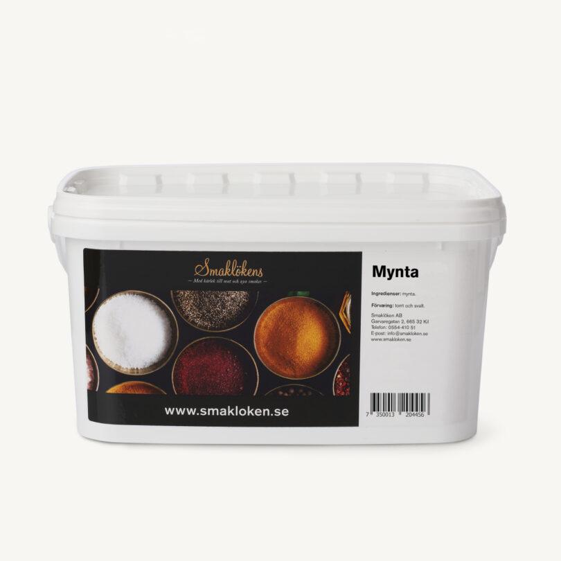 smaklökens-kryddor-mynta-torkad-5liter-hink-storpack-företag