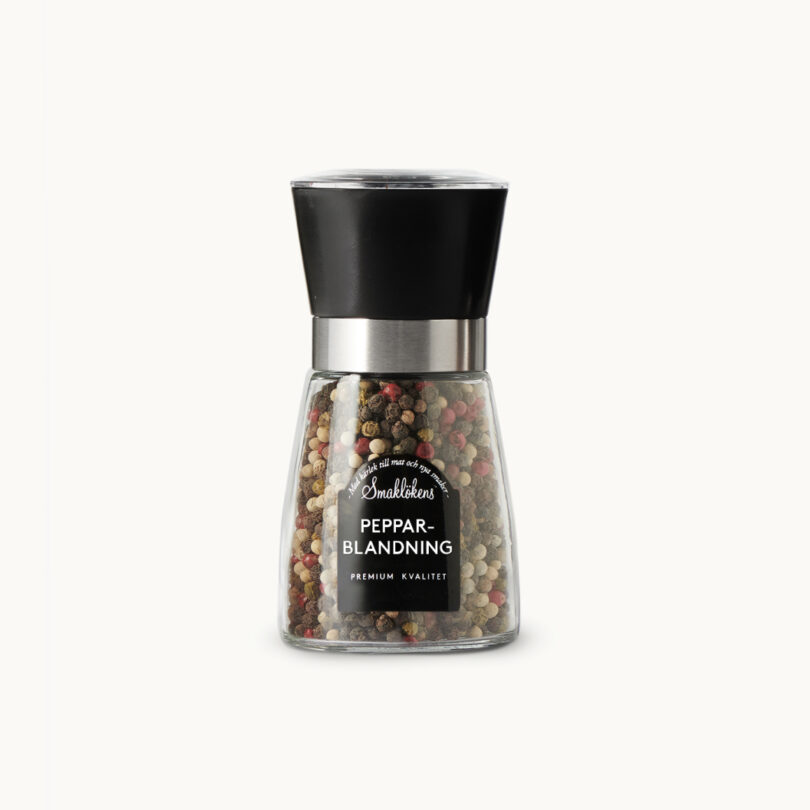 Smaklökens Kryddor pepparblandning i kvarn, 80g, 150ml