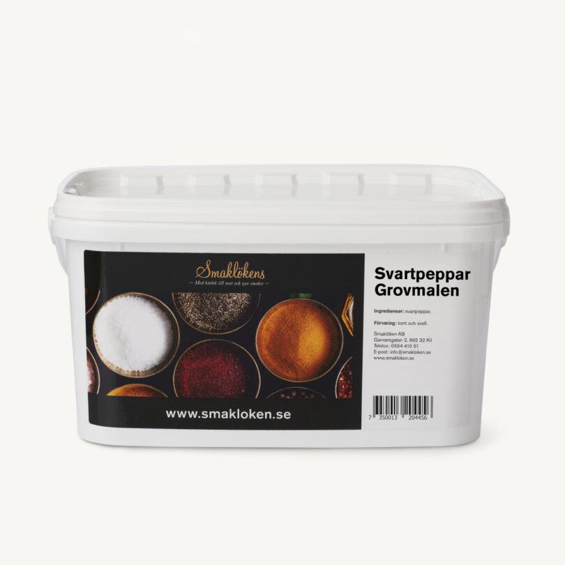 smaklökens-kryddor-svartpeppar-grovmalen-5liter-hink-storpack-företag