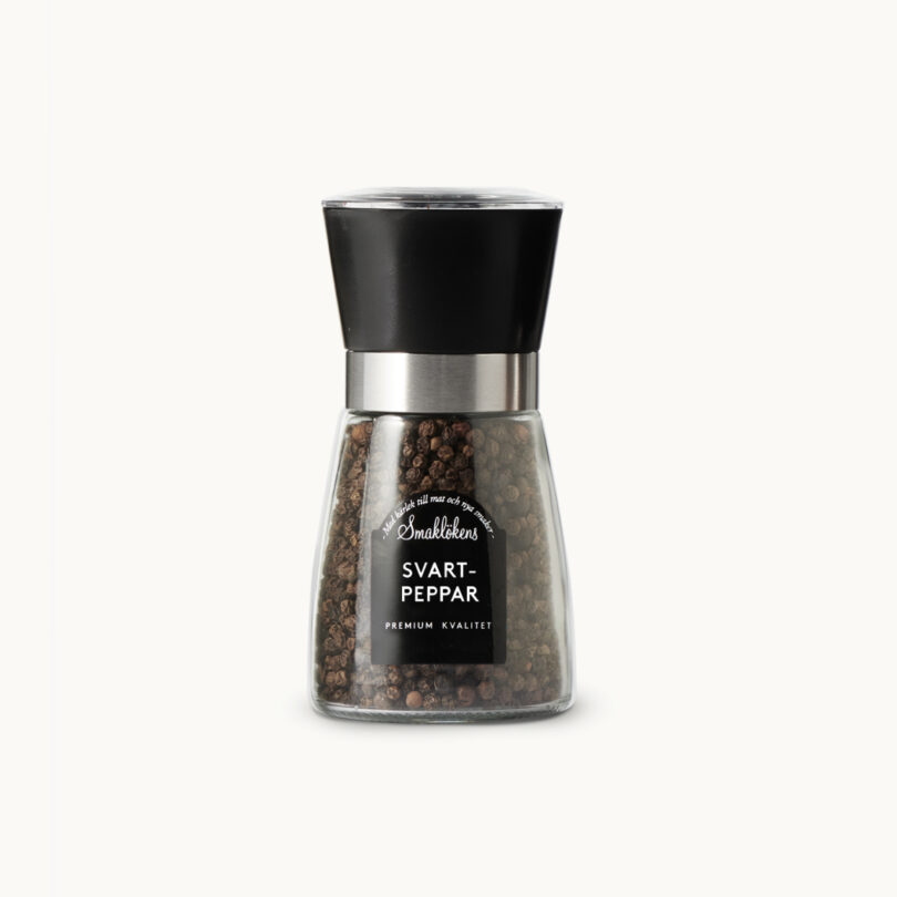 Smaklökens Kryddor pepparkvarn, svartpeppar, 75g, 150ml